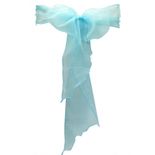 Chair Cover Hire With Turquoise Organza Sash