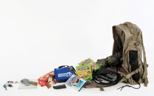 bug out bag open