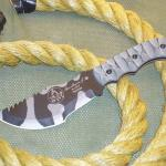 tom brown tracker knife with yellow rope