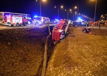 نتيجة لحادث حافلة في بولندا تسعة أوكرانيين في حالة خطيرة