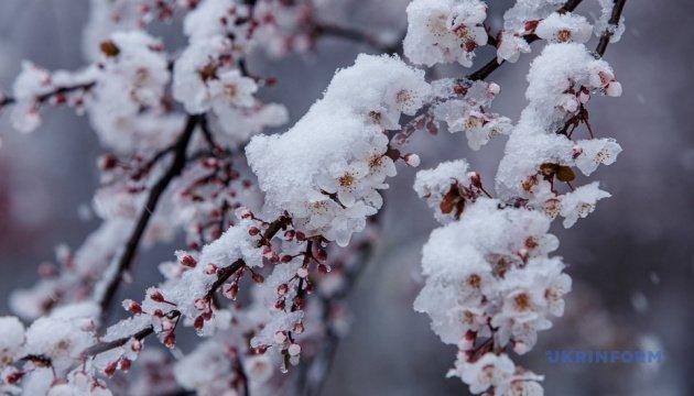 تساقط الثلوج في اوكرانيا بالتزامن مع الأعياد