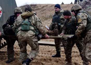 مقتل احد المقاتلين الاوكرانيين في قصف روسي