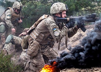 انتهاك وقف اطلاق النار 16 مرة واصابة جندي اوكراني