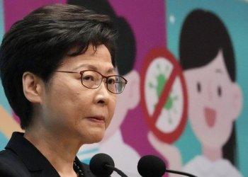 زعيم هونج كونج يقول الولايات المتحدة تجمل المخالفات الأمنية