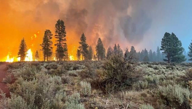 حريق ضخم يدمر 121000 هكتار من الغابات في ولاية أوريغون