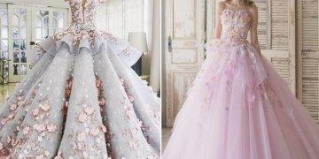 موضة فساتين الزفاف الوردية لصيف 2021