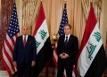 Iraq's Foreign Minister Fuad Hussein and U.S. Secretary of State Antony Blinken face reporters as they meet at the State Department in Washington, U.S., July 23, 2021. REUTERS/Elizabeth Frantz/Pool