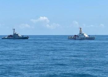 بحارة من أوكرانيا وجورجيا يقومون بتدريب PASSEX في البحر الأسود