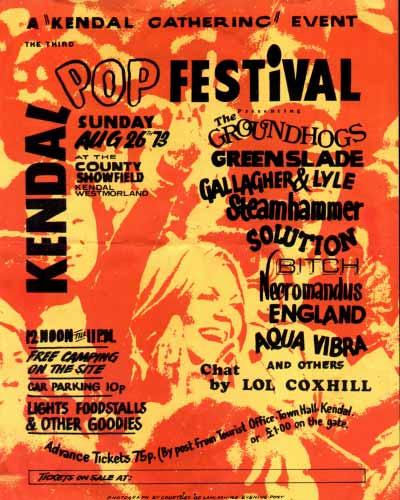 Kendal Pop Festival - 1973