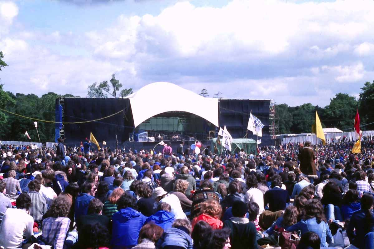 Genesis Stage at the Knebworth festival in 78
