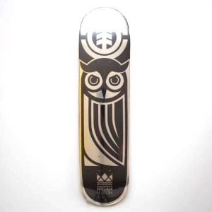 "Element Nyjah Thriftwood Black Owl Deck - 7.75"""