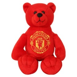 Manchester United FC Red & Black Beanie Bear