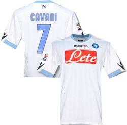 2010-11 Napoli Macron Away Shirt (Cavani 7)
