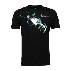 2017 Mercedes AMG Petronas Puma Lewis Hamilton Drivers Tee (Black)