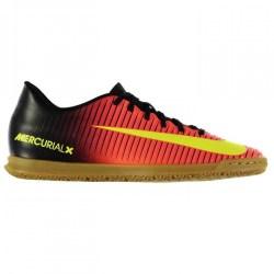 Nike Mercurial Vortex Mens Indoor Court Trainers (Crimson-Volt)