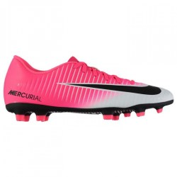 Nike Mercurial Vortex FG Mens Football Boots (Pink-Silver)
