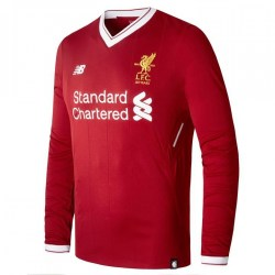 2017-2018 Liverpool Home Long Sleeve Shirt (Kids)