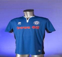 2017-2018 Rochdale Errea Home Football Shirt