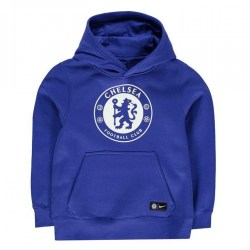 2017-2018 Chelsea Nike Core Hooded Top (Blue) - Kids