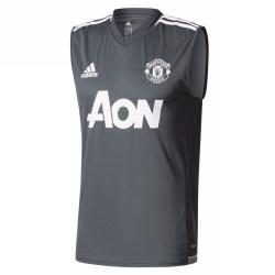 2017-2018 Man Utd Adidas Sleeveless Training Shirt (Night Grey)