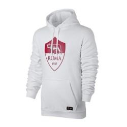 2017-2018 AS Roma Nike Core Hooded Top (White)