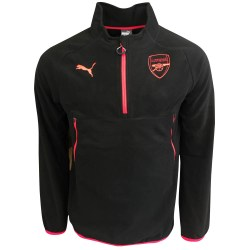 2017-2018 Arsenal Puma Training Fleece (Black) - Kids