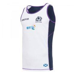 2017-2018 Scotland Macron Rugby Dry Training Singlet (White)