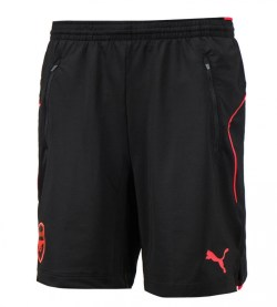 2017-2018 Arsenal Puma Training Shorts (Black) - Kids