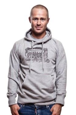 Mens Ludus Quem Itali Hooded Sweater // Grey M????l????e 70% cotton/30