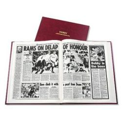 Derby County Football Newspaper Book