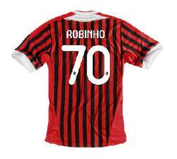 2011-12 AC Milan Home Shirt (Robinho 70)