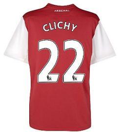 2011-12 Arsenal Nike Home Shirt (Clichy 22)