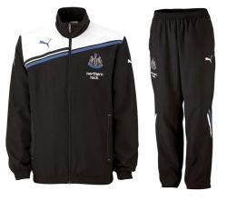 2011-12 Newcastle Puma Woven Tracksuit (Black)