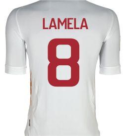 2011-12 Roma Kappa Away Shirt (Lamela 8)