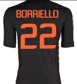 2011-12 Roma Kappa 3rd Shirt (Borriello 22)