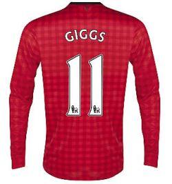 2012-13 Man Utd Nike Long Sleeve Home (Giggs 11) - Kids