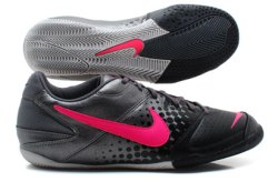 Nike5 Elastico IC Indoor Kids Football Trainers Metalic Dark Grey/Cherry/Black