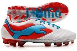 Powercat 1 SL FG Football Boots White/Orange/Ocean
