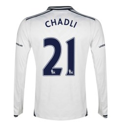 2013-14 Tottenham Long Sleeve Home Shirt (Chadli 21) - Kids