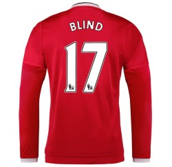 2015-2016 Man Utd Long Sleeve Home Shirt (Blind 17)
