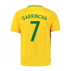 2016-17 Brazil Home Shirt (Garrincha 7) - Kids