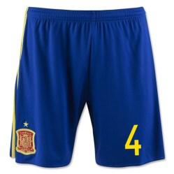 2016-17 Spain Home Shorts (4)