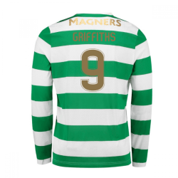 2017-18 Celtic Long Sleeve Home Shirt (Griffiths 9) - Kids