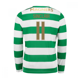 2017-18 Celtic Long Sleeve Home Shirt (Sinclair 11) - Kids