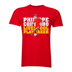 Philippe Coutinho Liverpool Playmaker T-Shirt (Red) - Kids