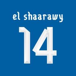 2013-14 Stephan El Shaarawy Italy Home Shirt Printing