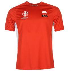 Poland UEFA Euro 2016 Poly Training Tee (Red)