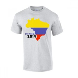 Columbia 2014 Country Flag T-shirt (grey)