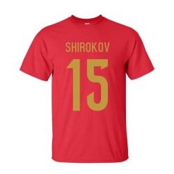 Roman Shirokov Russia Hero T-shirt (red)