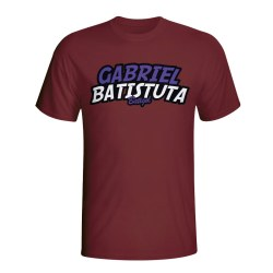 Gabriel Batistuta Comic Book T-shirt (maroon)